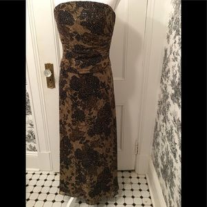 Jovani womens long strapless beaded dress. Size 4